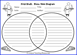 Free Venn Diagram Template With Lines Pizza Venn Diagram Book Report Project Templates