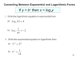 solving exponential equations with logarithms worksheet plus converting between exponential and logarithmic forms stunning solving exponential