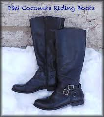 dsw coconuts black riding boots5