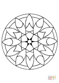 Mandala Semplici Da Colorare Fredrotgans