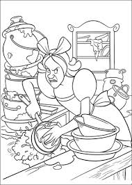 Small Picture Cinderellas Sister Must Clean The Kitchen coloring page Free