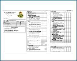 Student Report Card Template Report Card Template Middle School 549