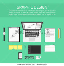 designer office desk isolated objects top view. concept of creative office workspace working place designer with devices for work top desk isolated objects view