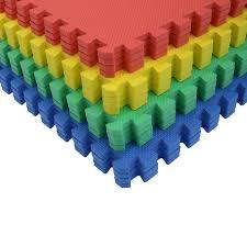 64 sq ft interlocking eva soft foam exercise floor play mats