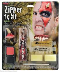 devil zip horn special effects make up fancy dress costume kit