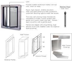 wall mounted dog doors by plexidor
