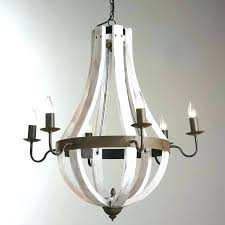 distressed white wood chandelier metal and wood chandelier wooden wine barrel stave round metal and wood
