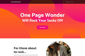 One Page Wonder Free Bootstrap Template Start Bootstrap