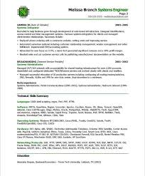 data center engineer resumes systems engineer page2 it resume samples sample resume resume