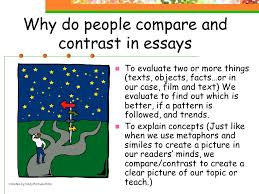 compare and contrast essays created by cindy farnum ppt  why do people compare and contrast in essays to evaluate two or more things texts