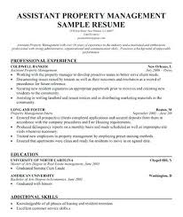 Fresh Ideas Property Manager Resume Objective Property Manager