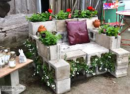 cinder block furniture. Delighful Furniture Cinder Block Garden Chair Furniture 8 Easy Diy On U