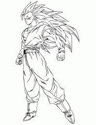 best super saiyan 3 dragon ball z coloring pages free 2267