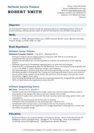 Software Intern Resume Samples | Qwikresume