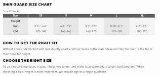 Adidas Shin Guard Size Chart Www Bedowntowndaytona Com