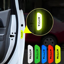 <b>4Pcs</b>/Set <b>Car</b> Door Stickers Night Driving Safety Luminous Anti ...
