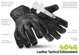 hexarmor 4046 leather tactical law enforcement cut resistant gloves product specs