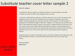 Gallery Of Sample Substitute Teacher Cover Letter
