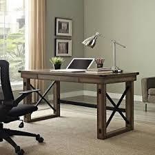 rustic desks office furniture. Image Is Loading Industrial-Wood-Desk-Office-Furniture-Metal-Laptop-Retro- Rustic Desks Office Furniture S