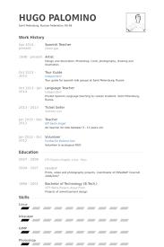 Spanish Resume Templates Spanish Resume Template Gfyork Download