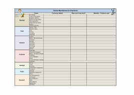 Home Maintenance Schedule Spreadsheet Home Maintenance Schedule Spreadsheet Spreadsheet Collections