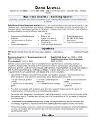Sample Resume For Business Analyst In Banking Domain Resume