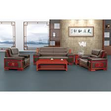 office sofa sets. Unique Sets China Classic Synthetic Luxury Black Office 3 Seater PU Sofa Set For  Sitting Reception Throughout Sets