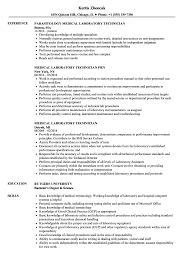 Medical Laboratory Technician Resume Sample Medical Laboratory Technician Resume Samples Velvet Jobs 4
