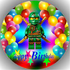 LL Lego Ninjago Happy Birthday Fondant Tortenaufleger Tortenaufleger  Tortenbild Geburtstag T1: Amazon.de: Lebensmittel & Getränke