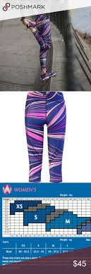 Cwx Stabilyx Tights Size Chart Cw X Womens Stabilyx Purple Printed 3 4 Sz Xs Cw X Womens