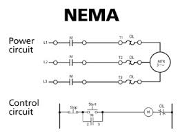 automation basics proper motor protection iec versus nema isa this nema motor starter power and control diagram shows typical symbols and diagrams used in the design of nema devices