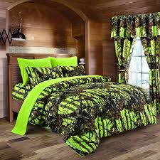 lime camouflage queen size 8pc comforter sheet pillowcases and bed skirt set camo bedding sheet set for hunters teens boys and girls com