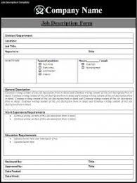 Job Description Template Google Search Business Administration
