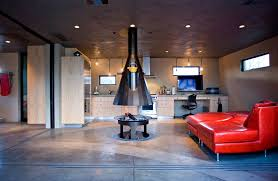 When placed at the center of the social area, the fireplace stands out