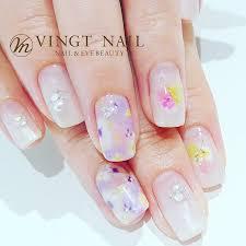 Vingt Nail 春のお花デザイン 青山表参道のネイルサロン Vingt Nail