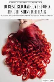 top 7 best red hair dyes for a bright