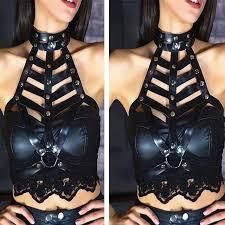harajuku s harness bra cage leather harness belt jdhp0