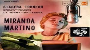 STASERA TORNERÒ/MY MAN IS COMING HOME Miranda Martino 1959 (Facciate:2) -  Video Dailymotion