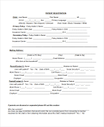 medical patient registration form sample patient registration form 8 free documents download in