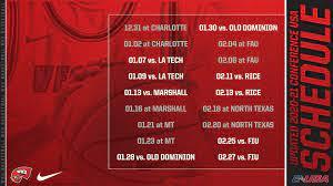 Updated 2020-21 League Schedule ...