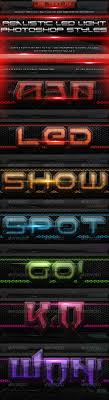 styles of lighting. Led Light Text Style For Photoshop Styles Of Lighting O