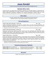 ... office clerk resume clerical resume templates ...