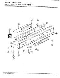 S176 electric slide in range control panel s176 parts diagram