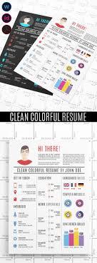 15 Creative Infographic Resume Templates Cloverdesain