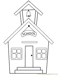Kids are getting used to working with sheets and books (coloring books). School Building School Coloring Pages House Colouring Pages Coloring Pages For Kids