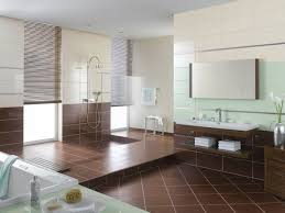 charming tile ideas for bathroom. Charming Brwon Bathroom Floor Tile Ideas Combined With Wooden Cabinet And Bright White Tub Also Stainless Shower On The For H