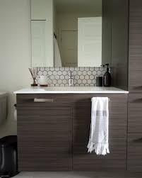 Hexagon Tile Backsplash How To Install Hex Tiles With Adhesive Tile Delectable Tile Backsplash In Bathroom