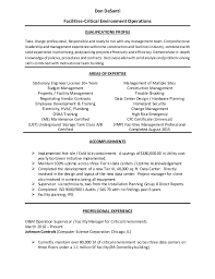 Data Center Manager Resumes Facilities Manager Resume 3 2015 1