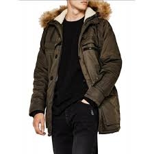 Men's Winter Quilted Parka Jacket Removable Faux Fur Hooded ... & Vska Men's Winter Quilted Parka Jacket Removable Faux Fur Hooded Outwear  Coats Khaki ZPVTRFXRS Adamdwight.com