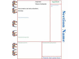 Homemade Cookbook Template Homemade Cookbook Templates Zoro Braggs Co